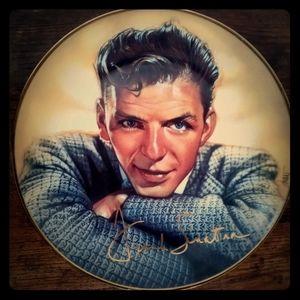 Vintage Frank Sinatra decorative plate